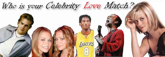 Who is your Celebrity Love Match